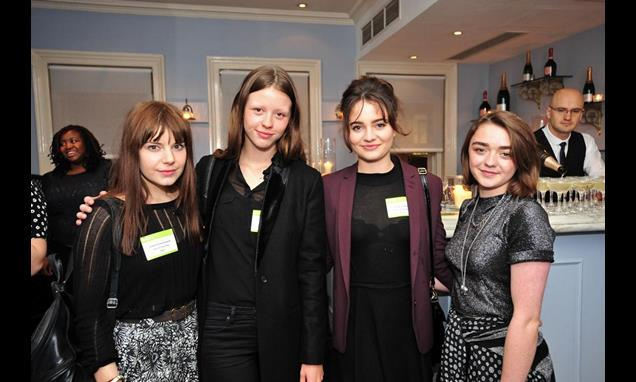 2014 Stars Aimee Ffion-Edwards, Mia Goth, Aisling Franciosi and Maisie Williams